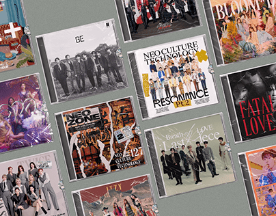 2020 kpop albums redesigned as jewel case cd's
