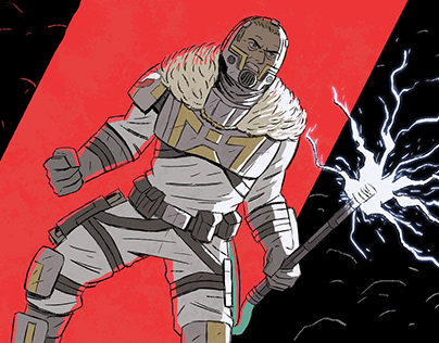 The Mountain comics - character designs