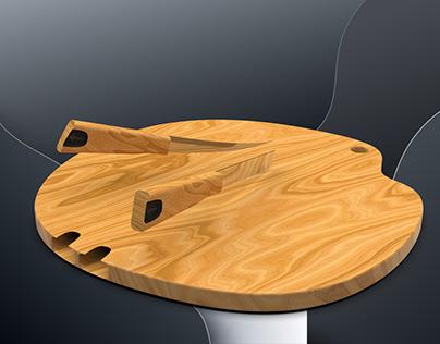 "Chopzee ""Knife integrated chopping board"""