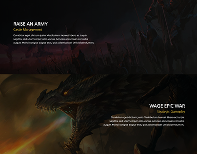 A R S N L - A Video Game Landing Page Style Two