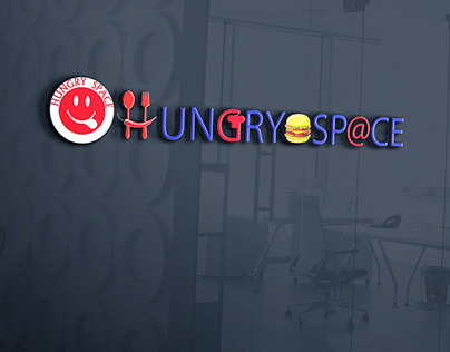 hungry space logo design