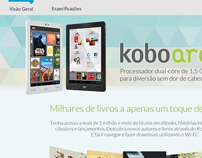 Descrição do Kobo Arc para o site da Livraria Cultura