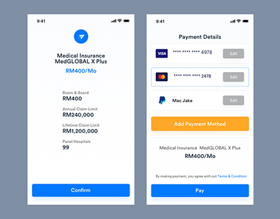 Single Page Checkout Mobile UI