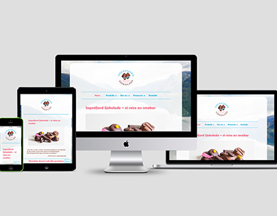 Website for chocolate factory in Sogn, Norway
