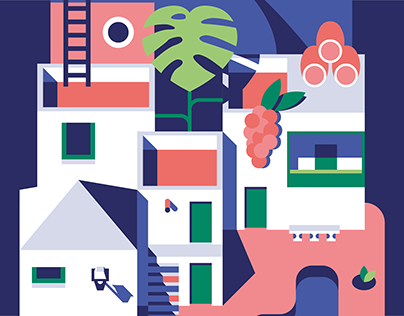 The 8 Canary Islands   Illustration