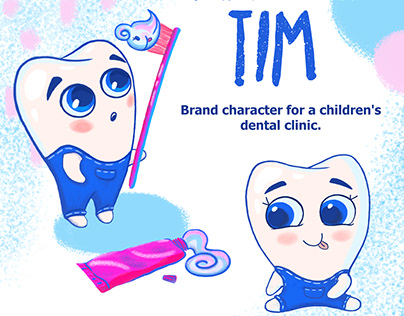 Character design for a children's dental clinic