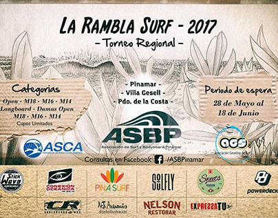 Afiche torneo de Surf Local : La rambla 2017