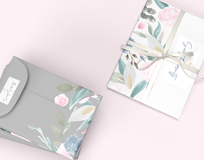 Floral Watercolor Packaging Illustration