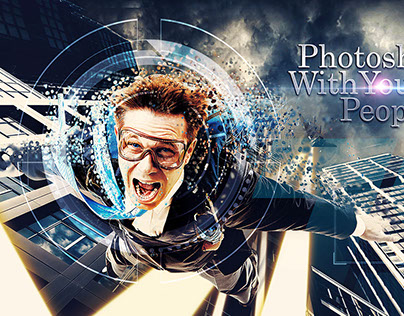 Photoshop with young peoples