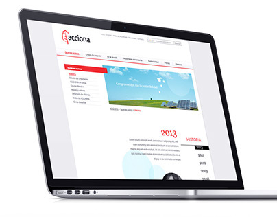 ACCIONA - Parallax pages
