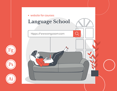 Web design for a language school