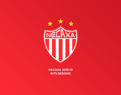 Necaxa 2018-19 home, away and third kits designs.