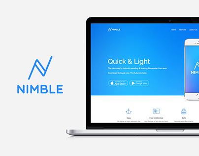 Nimble: App Landing Onepage Template For WordPress