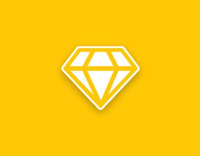 diamond icon animation