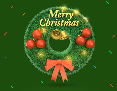 Christmas 3D Icons Realistic Rendering