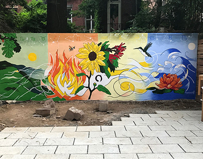 "Mural: ""Earth, Fire, Air, Water"""