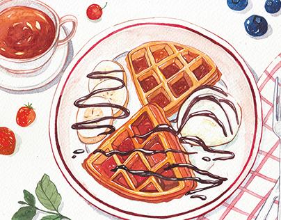 Watercolor Food Illustrations