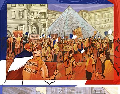 FRANCE Sketchs Social situation