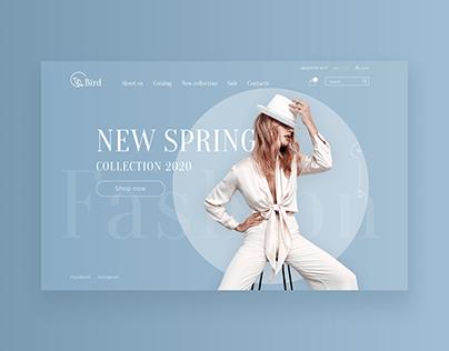 Online store website