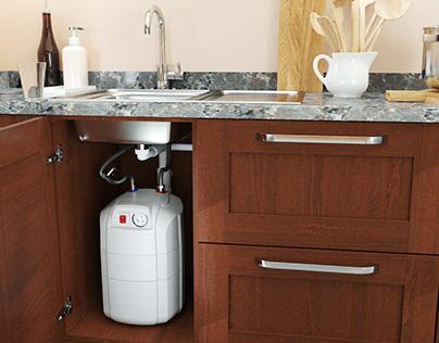 Water heater under the sink