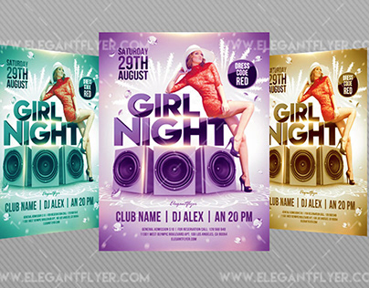 Girl Night – Flyer PSD Template
