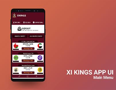 Xi Kings Fantasy App Ui Design