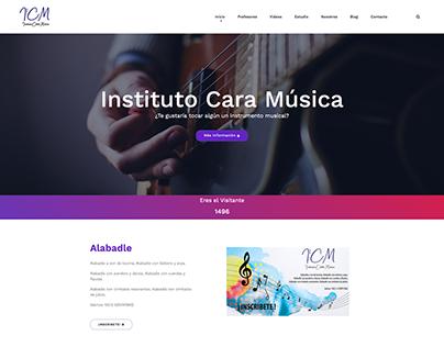 Diseño web institutocaramusica.com