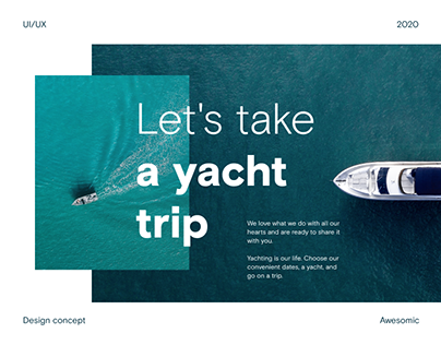 Website Design Concept — Yacht Travel Company