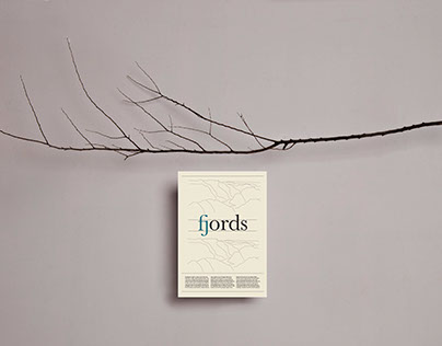 FJORDS - ligatures poster