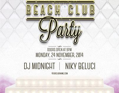 FREE PSD - VIP Beach Club Flyer Template on Behance