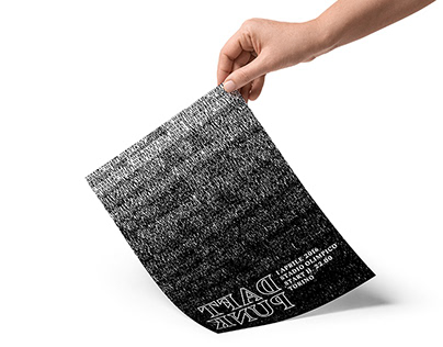 Daft Punk - Typographic flyer