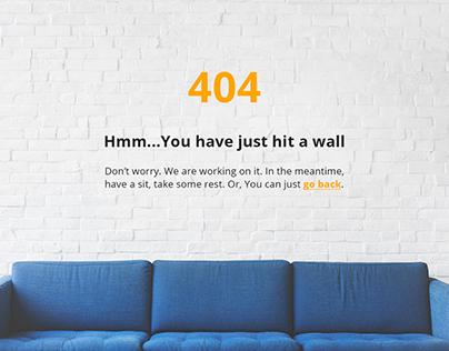 Error 404 page design s