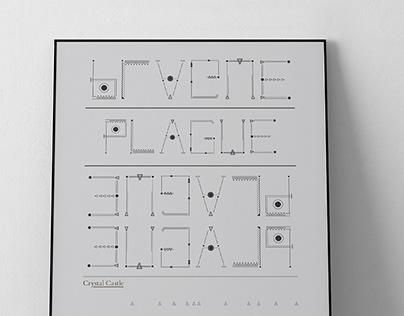 Plague Typographic Poster