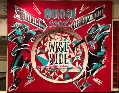 """Mural art for """"BONNY DANCE SCHOOL ENTERTAINMENT"""""""