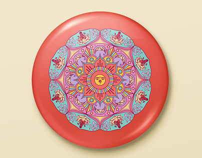 Pin Button - Mandala Illustration - Stereohype entry
