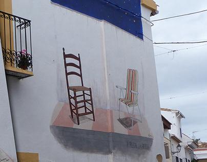 "Mural ""A plegar la fresca"""