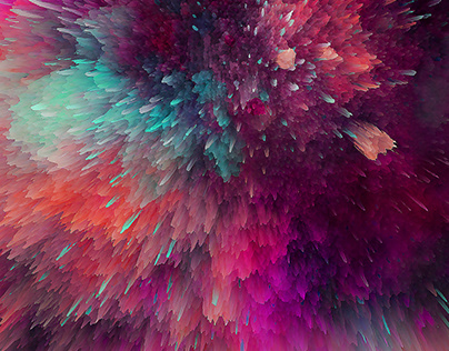 3D abstract galaxy