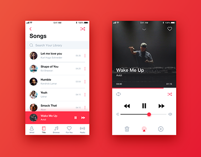 iPhone Music- Redesign Concept