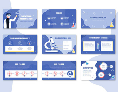 Free Illustrated PowerPoint Template