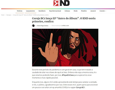 "Coruja BC1 lança EP ""Antes do Álbum"""