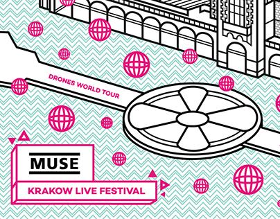 krakow live muse poster
