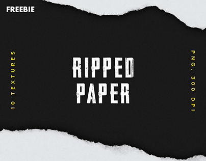 Free Download: Ripped Paper Texture Set