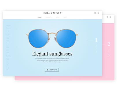 E-commerce sunglasses website