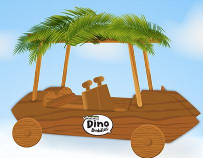 Car Design for Yummy Dino Buddies