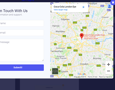 Map Contact Us Popup (Fade)- jetpopup