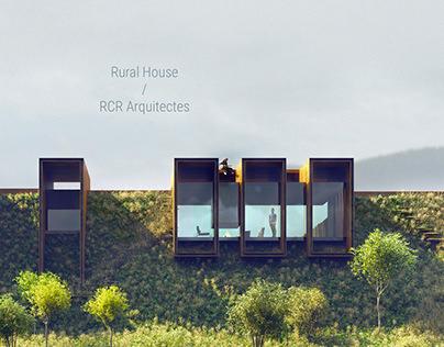 Visualization of Rural House byRCR Arquitectes