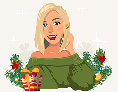 Christmas illustration for blogger
