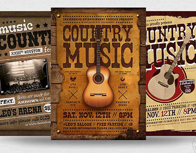 Country Music Flyer Bundle V2