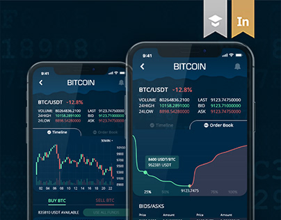 Bittrex Cryptocurrency Exchange - concept iOS app UI/UX