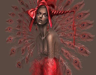 'Ruby' Fashion Illustration